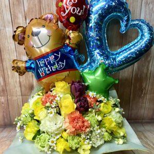 お祝いやパーティーの新定番!花とバルーンと笑顔をお届けします♪